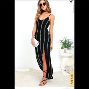 Striped LULU's maxi with tie back